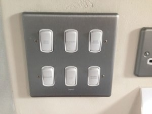 Waste disposal switch panel